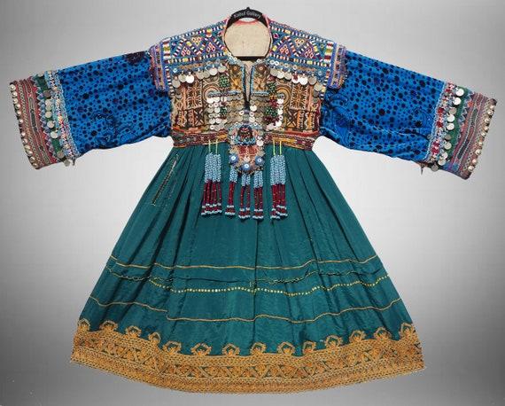 antique hand embroidered nomadic Kuchi Ethnic  wed