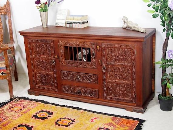 Antieke Look Oosterse Woonkamer Kast Kast Tv Van De Televisie Van Het Dressoir Kast Boffet Dressoir Console Van Afghanistan Pakistannr 17 B