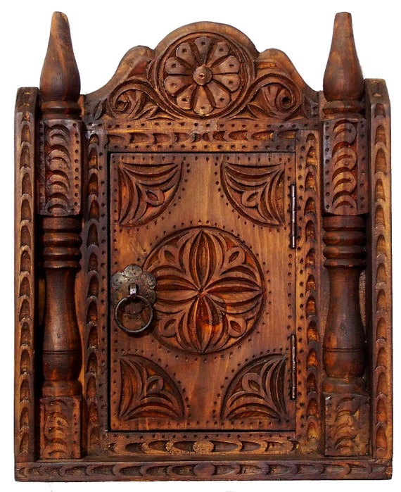 image 0 - Antique-look Handcarved Orient Bohemian Vintage Key Box Etsy
