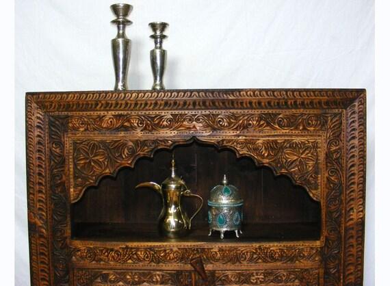 Antik Look Orient Wohnzimmerschrank Schrank Afghanistan Etsy