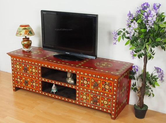 Antik Look Orient Wohnzimmerschrank Schrank Bauernschrank Etsy