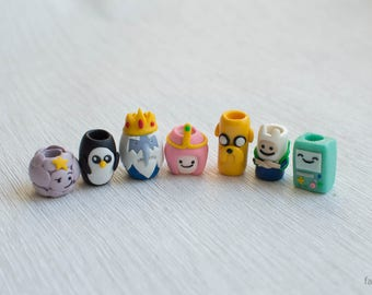 Dread beads Adventure time dread accessories dreadbeads Finn Jake Ice King Princess Bubblegum Lumpy Space Princess BMO Gunter