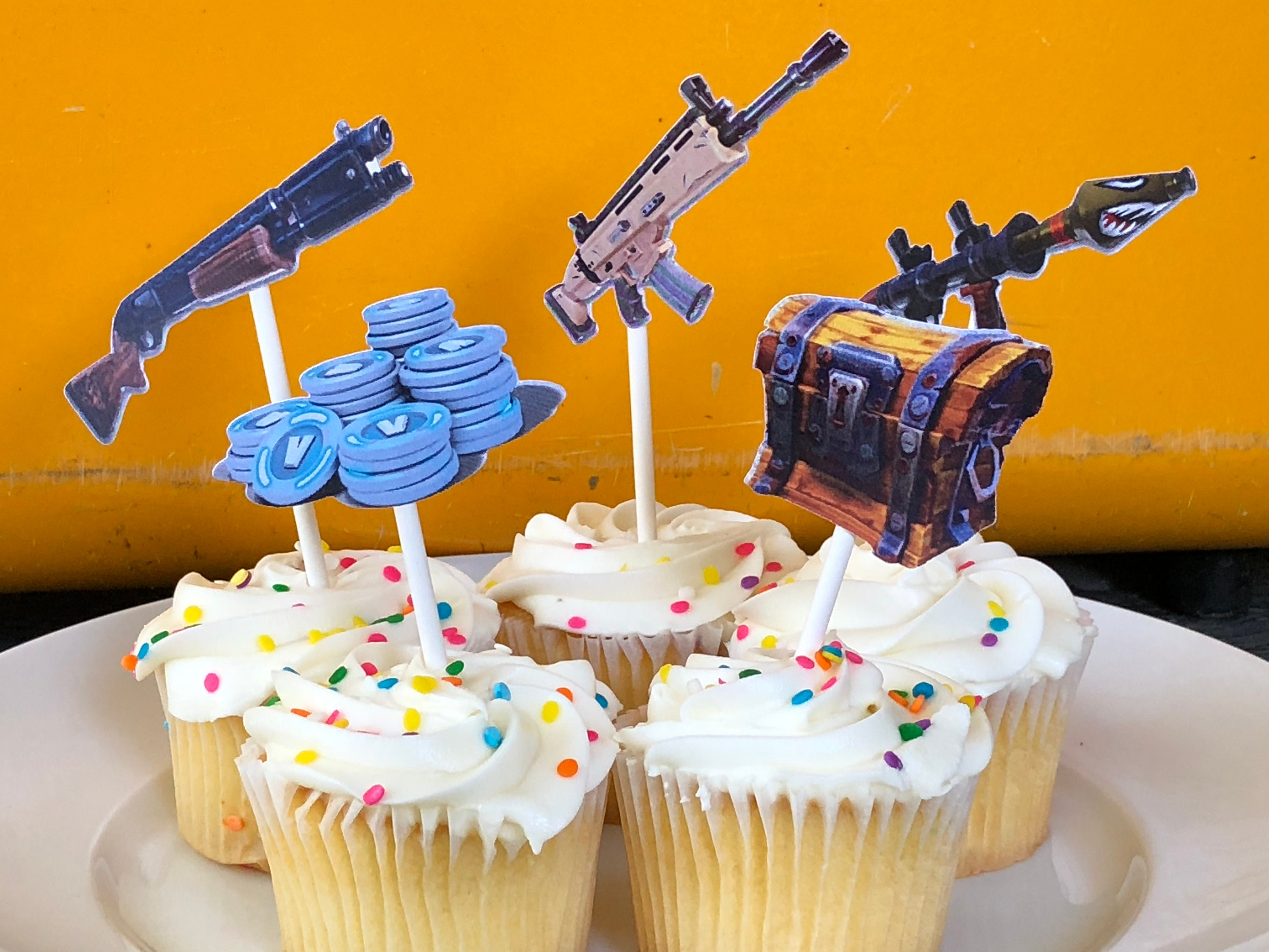 Fortnite Cupcake Toppersfortnite Birthday Party Fortnite