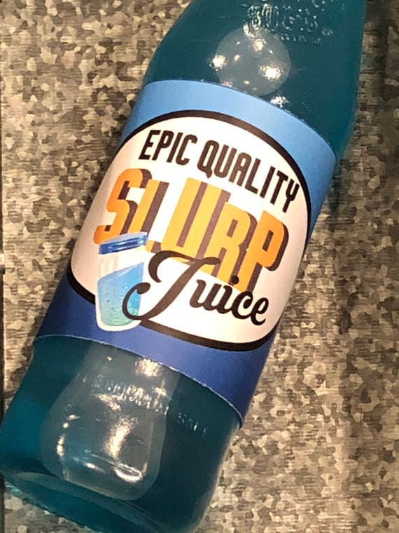 Fortnite Birthday Slurp Juice Printable Bottle Wraps Water