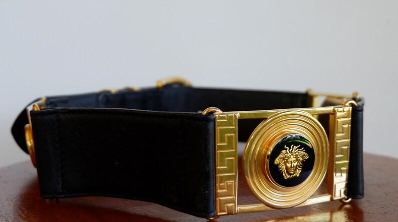70cdb4df7c0 REDUCED Authentic Vintage Gianni Versace Medusa Belt | Etsy