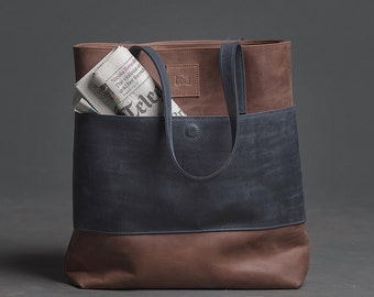 Leather tote bag 59e1f30dfb03e