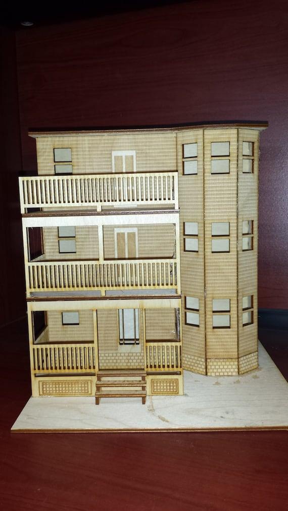 O Scale Boston Triple Decker House Kit Model Railroad Train Building On30  Scale