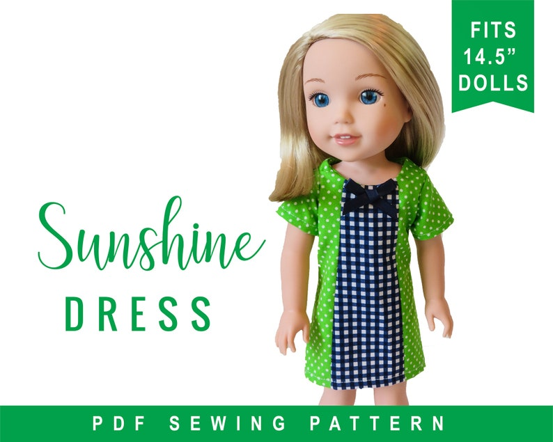 Doll Clothes Sewing pattern to fit 14 inch dolls  Sunshine image 0