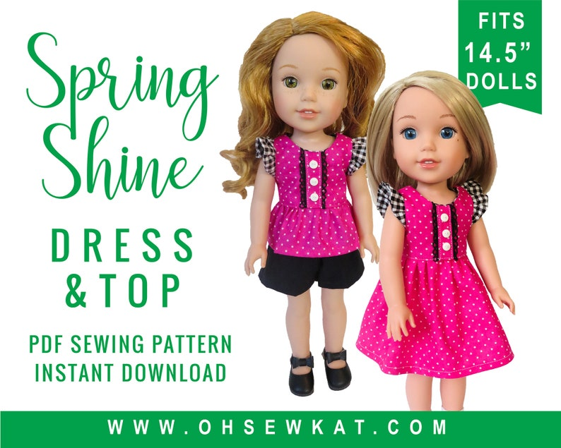 Doll Clothes Sewing Pattern for 14.5 inch doll clothes  image 0