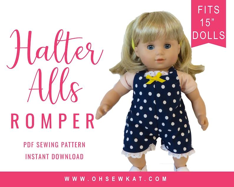 edd48ecbb2d Baby Doll Clothes Sewing Pattern 15 inch dolls like Bitty