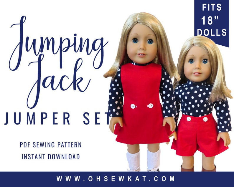 18 inch Doll Clothes Pattern includes sewing patterns for image 0