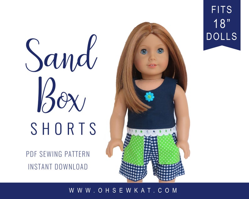18 inch doll clothes DIY pattern for American Girl ® Sandbox image 0