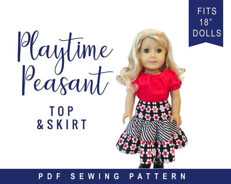 Doll Clothes pattern fits 18 dolls like American Girl image 0