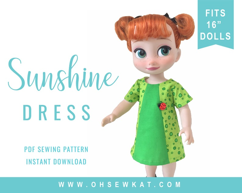 Animators Doll Clothes Sewing Pattern for 16 inch dolls like image 0