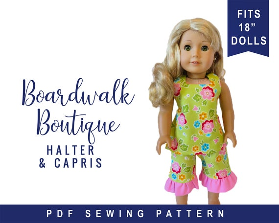 PRINTED Sewing Pattern  for 18 Inch Doll Clothes   Summer Fun  Like 18 American Girl Doll Clothes Pattern