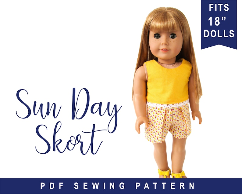 doll clothes sewing pattern for 18 inch doll clothes  image 0