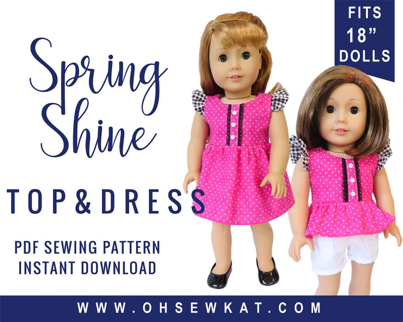 Doll Clothes Sewing Pattern for 18 inch doll clothes  Flutter image 0