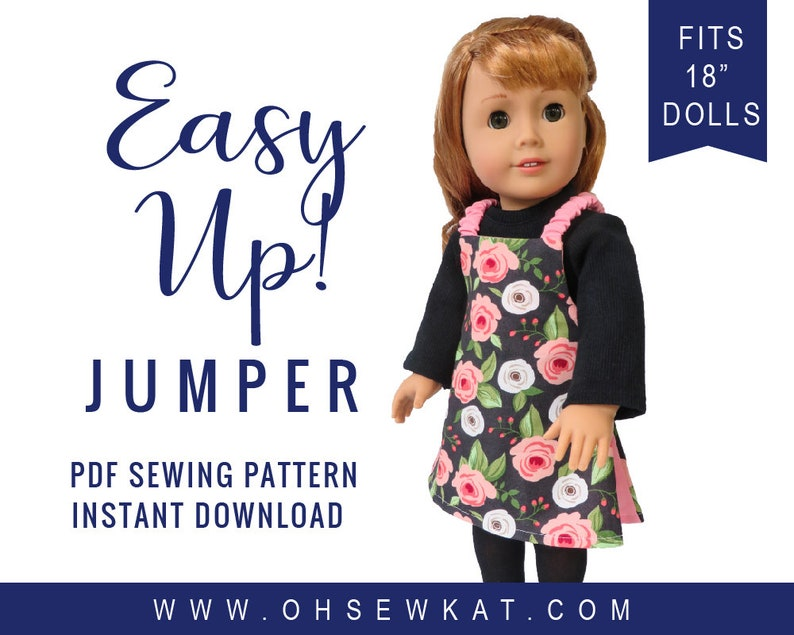 Doll Clothes Sewing Pattern for 18 inch doll  Reversible image 0