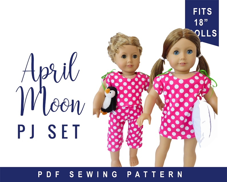 18 inch doll Clothing Sewing Pattern  Pajama & Nightgown pdf image 0