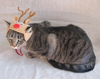 Rudolph The Reindeer Hat for Cats