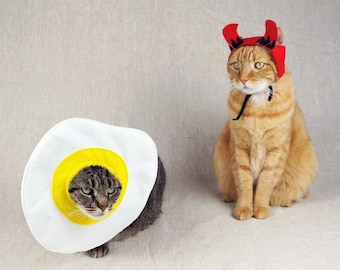 Deviled Egg Couples Costume for Cats