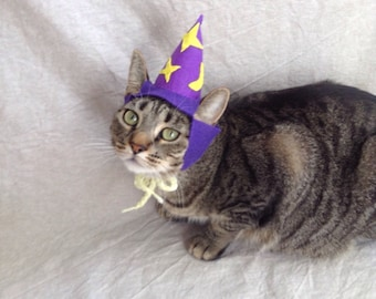 Wizard hat for cats- Glow in the dark!