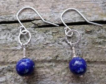 Lapis Lazuli on Sterling Silver Earrings