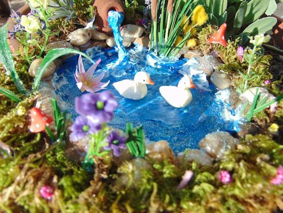 verkauf fairy garden pond fairy teich miniatur teich etsy. Black Bedroom Furniture Sets. Home Design Ideas