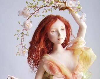 The Art ooak interior doll The awakening of nature OOAK doll Art doll Handmade doll Collecting doll Interior doll Dressed doll Cloth doll