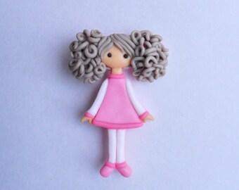The doll-brooch Pink tenderness Brooch doll Brooch girl Handmade brooch Brooch Jewelry Brooch doll Jewelry for girl Brooch for girl