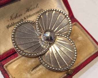 Flower Brooch, Silver Flower Brooch, Vintage Brooch, Sterling Silver, Flower Jewellery, Pansy Brooch