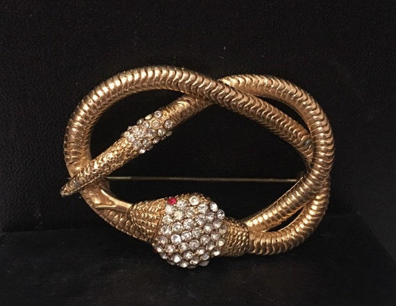 Snake Brooch, Vintage Snake Brooch, Snake Jeweller