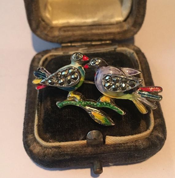Vintage Bird Brooch, Bird Brooch, Marcasite Bird B