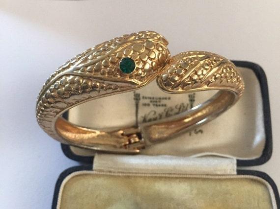 Vintage Snake Bracelet, Costume Snake Bracelet, Sn