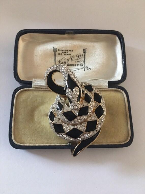 Vintage Snake Brooch, Snake Brooch, Snake jewelle… - image 5