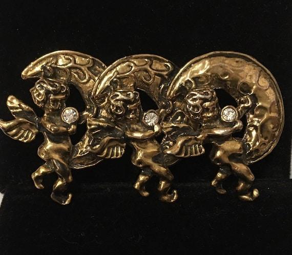 Vintage Cupid Brooch, Angel brooch, Vintage Angel