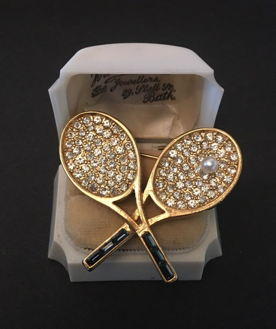 Vintage Tennis Racket, Tennis Jewellery, Vintage T