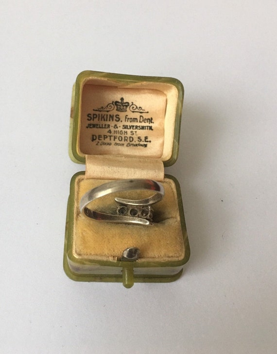 Vintage Silver Ring, Silver Ring, Modernist Silve… - image 8