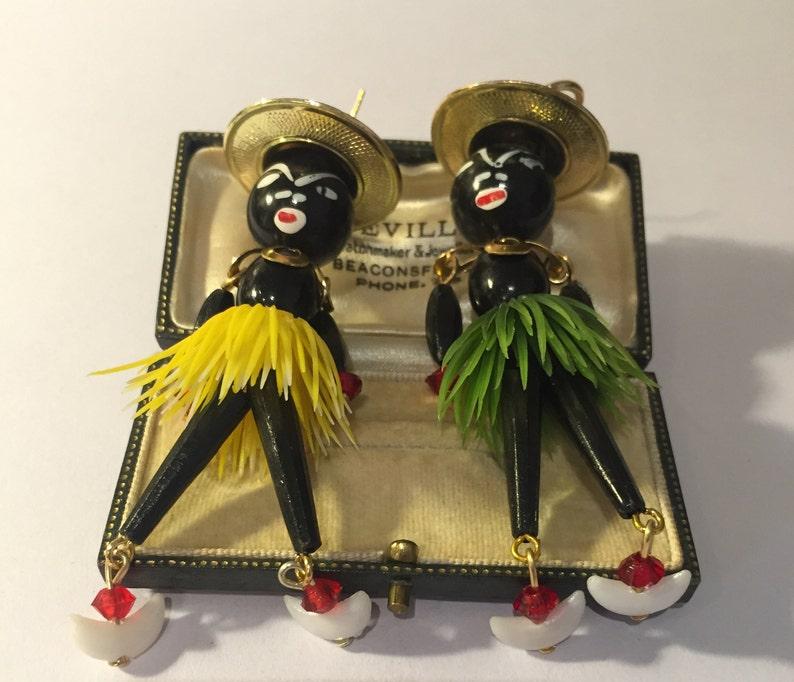 Doll Jewellery Doll Earrings Gold doll Earrings fantastic design. Vintage Doll Earrings