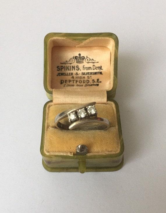 Vintage Silver Ring, Silver Ring, Modernist Silve… - image 3