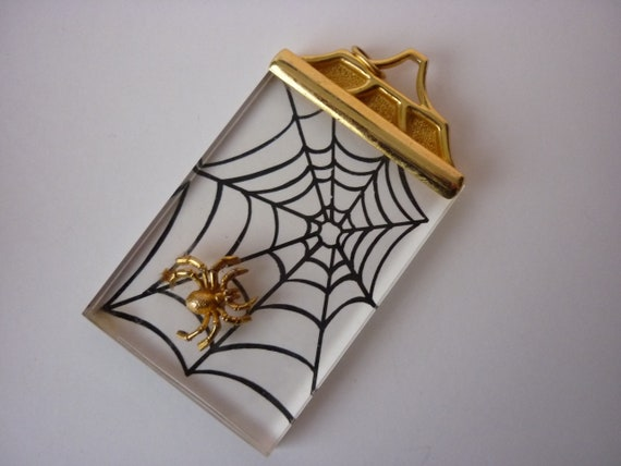 Intricate Vintage Spider and web 925 Silver Pendant Necklace Item w#234