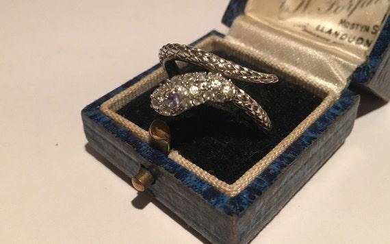 Vintage Snake Ring, Silver Snake Ring, Snake Ring,