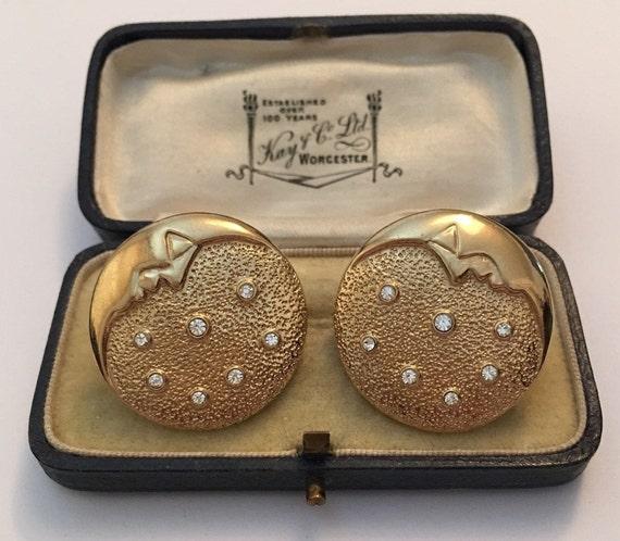 Vintage Moon Earrings, Gold Moon Earrings, Moon Ea
