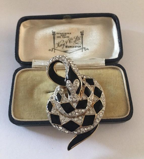 Vintage Snake Brooch, Snake Brooch, Snake jewelle… - image 7