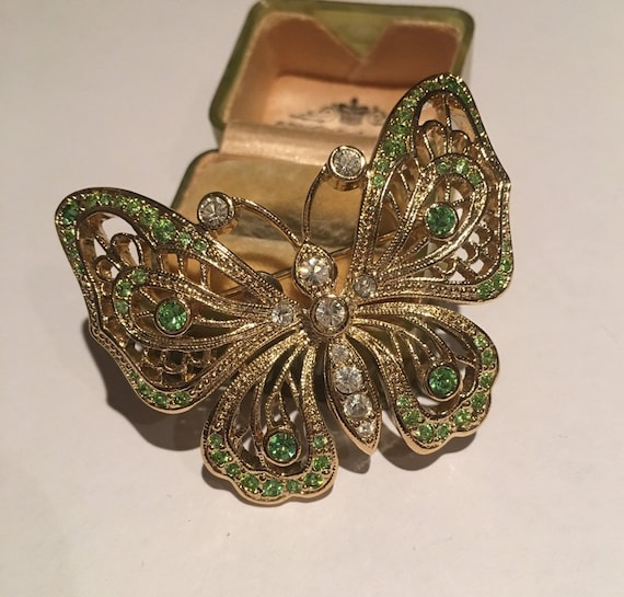 Vintage Butterfly Brooch, Vintage Ciro Butterfly G