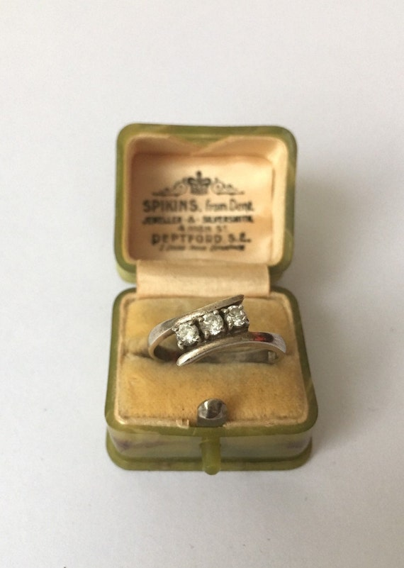 Vintage Silver Ring, Silver Ring, Modernist Silve… - image 2
