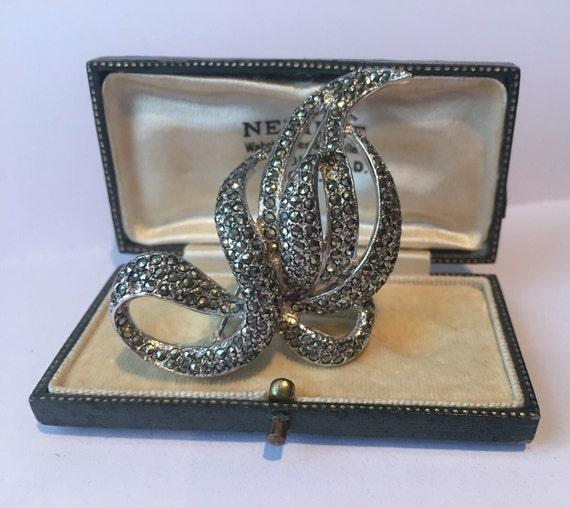 Vintage Brooch, Costume Brooch, Marcasite Brooch,