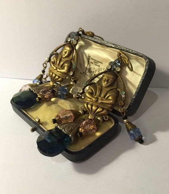 Vintage Egyptian Earrings, Egyptian Jewellery, Egy