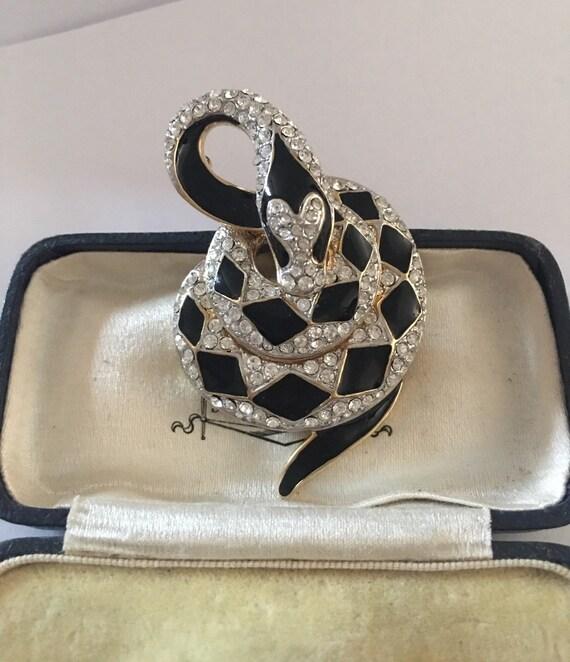 Vintage Snake Brooch, Snake Brooch, Snake jewelle… - image 2