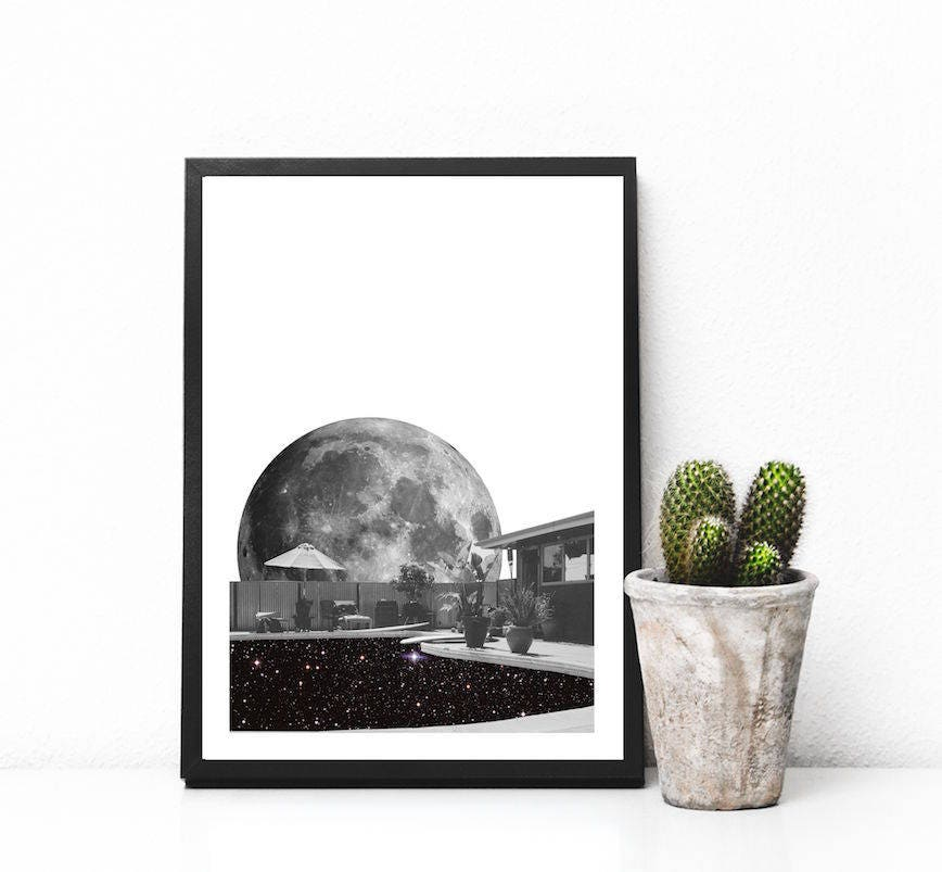 affiche minimaliste affiche noir et blanc affiche etsy. Black Bedroom Furniture Sets. Home Design Ideas